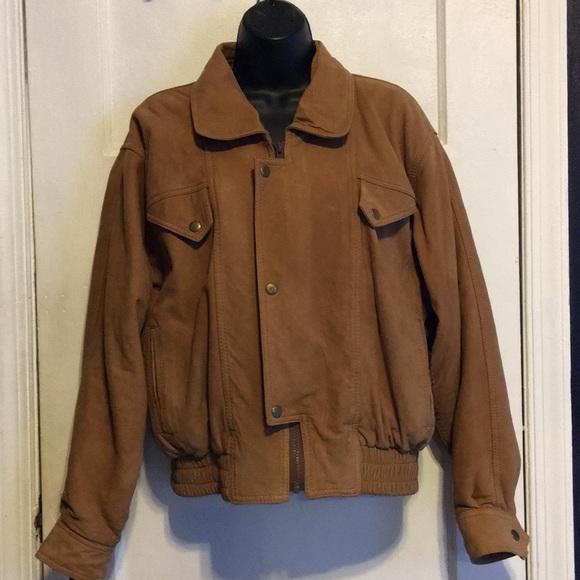 Vintage Jackets & Blazers - Vintage Dolman sleeve leather Jacket